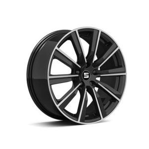 "SEAT 19"" Cup Racer Gloss Black Alloy Wheel 5F0071499A KT2"