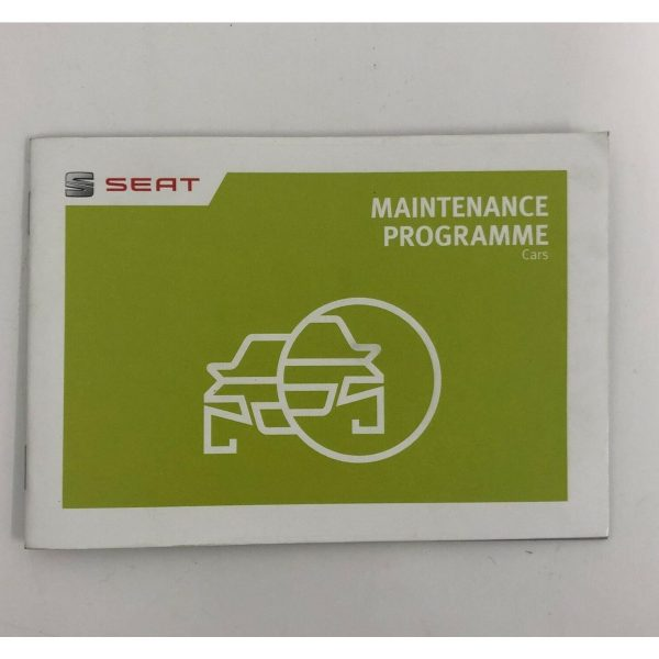 SEAT Blank Replacement Service Book servicebook